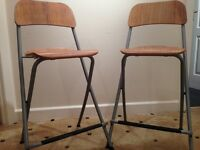 IKEA 'Franklin' dining stools - nearly new