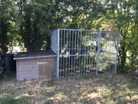 Kennel and galvanised steel dog run