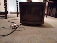Sony Black Trinitron KV-M1420U Colour TV + Remote