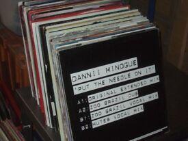 """130 x 12"""" 90's Pop Remixes / House / Dance Vinyl Records Collection."""