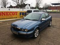 2003 JAGUAR X-TYPE V6 3.0 AUTOMATIC BLUE GREY LEATHERS 12 MONTHS MOT