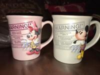 Disney large size mugs. Never used. Like new
