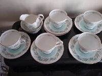 Tuscan Fresco Fine English Bone China coffee set