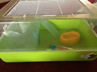 Large green hamster cage