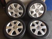 "VW 16"" Alloy Wheels 5x112pcd Golf Mk5 Touran Caddy Passat T4"