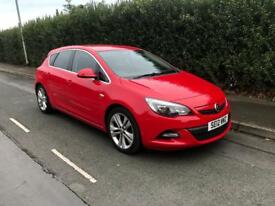 2012 VAUXHALL ASTRA SRI 1.6 PETROL VX LINE RED 5 DOOR HPI CLEAR FULL SERVICE HISTORY 2 KEYS