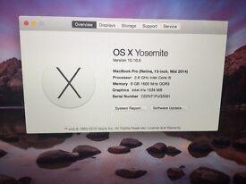 MacBook Pro retina, Mid 2014 for sale