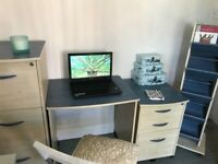 Smart desk, storage & filing cabinets set.