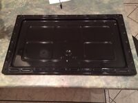 Large metal tray for base of oven