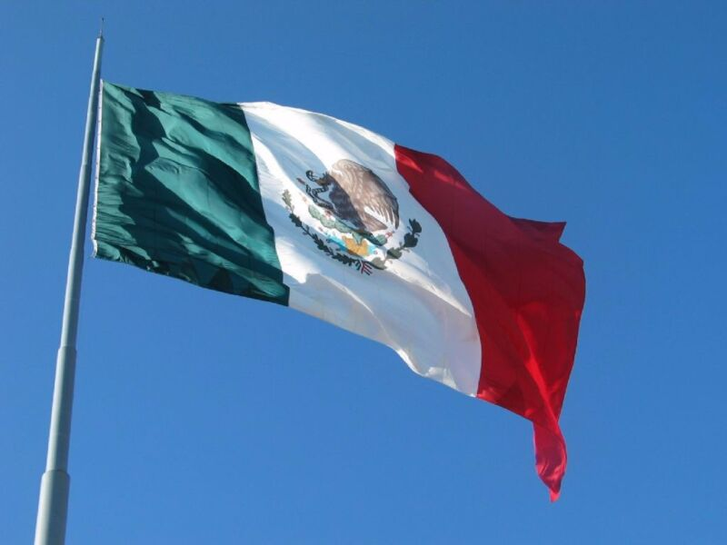 3x2' Feet Polyester Mexico Flag Mexican Country Indoor Outdoor Banner Pennant
