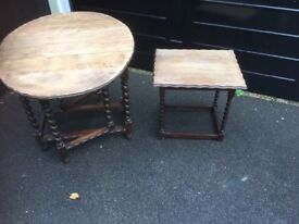 Upcycling Project Dining Table and matching side Table