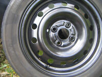 HONDA CIVIC 2001 TO 2006, 4 X 100 PCD SPARE WHEEL,NEW,C/W 195 X 60 X 15 RUNNER,WAS OUR SPARE ,