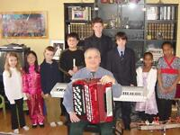Private Piano, Accordion, Guitar, Recorder,Voice &Theory lessons