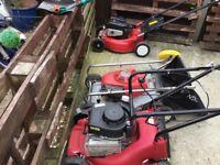 3 x petrol lawn mowers