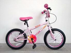"""(2764) 16"""" APOLLO ROXIE Girls Kids Childs Bike Bicycle Age: 5-7, Height: 105-120 cm; PINK"""