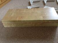 Ikea Shelves with white brackets x 6