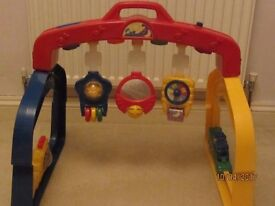 Baby gym with music and flashing lights
