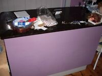 Shop counter on wheels with marble top for sale