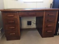 Traditional solid wood desk