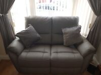 TEO 2 SEATER STATIC LEATHER SOFA