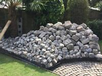 Reclaimed granite cobbles setts stones for garden outside wall driveway patio approx 1500!35sqm