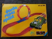 Darda Super Sprint Raceway with two cars, boxed
