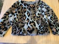 Girls age 8 fake fur jacket