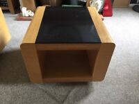 2 glass top, solid coffee tables