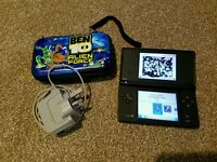 Black Nintendo DSi with R4i card, case and charger