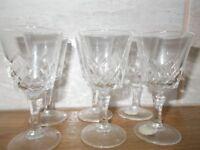 Six Port Glasses. Vintage. Genuine Cut Lead Crystal.