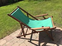 Wooden frame deck chairs