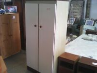 2 x matching solid wood wardrobes