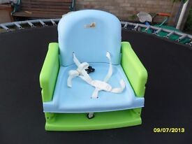 Low chair baby seat - straps to chair