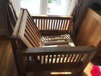 Futon Company - Single Seater Oak Sofa Bed (oke)