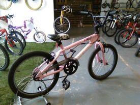 GIRLS AVIGO DULCIS BMX BIKE 20 INCH WHEELS 360 GYRO BRAKES PINK GOOD CONDITION