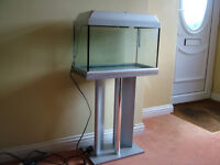 Fish Tank with stand, lid, light and heater