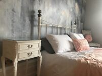 Vintage French Louis cabinet bedside unit drawers table bedroom