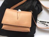 Jil Sander Cutout View Leather Shoulder Bag
