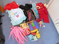 Dressing up bundle aged approximately 3-5 years and dress up doll