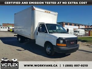2013 GMC Savana G3500 16Ft V8 Gas 7Ft Box + Ramp