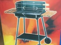 Barbecue Trolley Charcoal BBQ Grill Patio Outdoor Garden Heating Heat Smoker