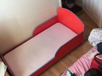 Toddler bed for girl! Hand made , very sturdy!