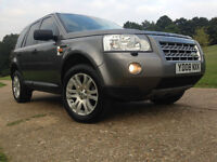 2008 LAND ROVER FREELANDER HSE TD4 A GREY, PANORAMIC ROOF