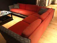 Red Ikea 4seat corner sofa