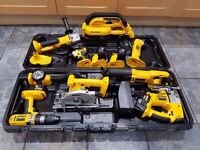 DeWalt 18v toolkit -- used but immaculate condition