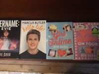 4 x Brand new You Tube books Joe Sugg Marcus Butler Zoella great presents