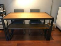 Industrial Dining Table plus bench