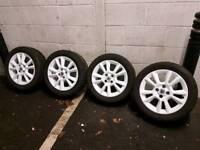 16 inch vauxhall corsa/Astra alloy wheels 4 stud new refurbished