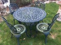 Vintage garden patio table and chair set with possible delivery