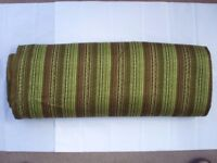 Quantity of Vintage 70's Green Stripped Fabric for Curtains/Cushions